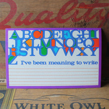 Bright Funky Alphabet postcard from the 1960's - RadCakes Shirt Printing