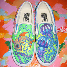 Fish vs jellyfish designed Vans sneakers with tentacles