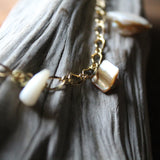 Details of fossil shark tooth necklace by Lauren Dalrymple Wade