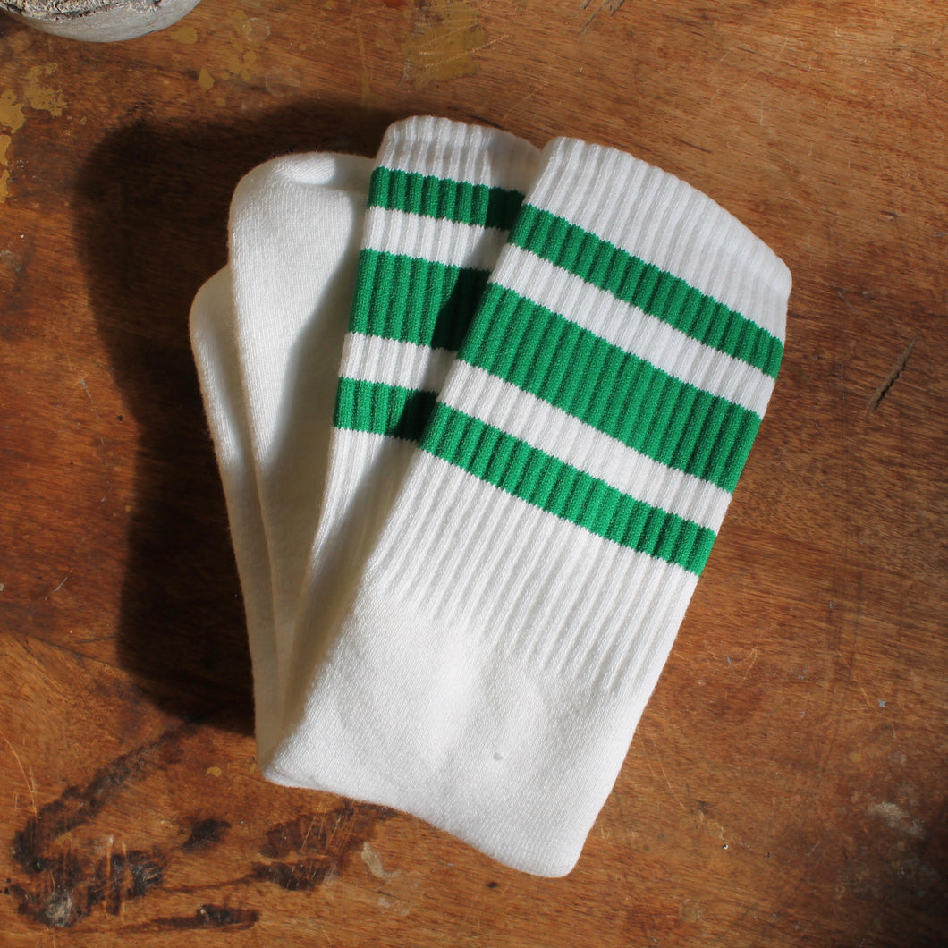 Kelly Green tube socks Irish St. Patricks Day Parade outfit retro style stripes