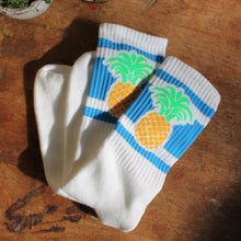 Retro style pineapple socks for sale skateboarding fashion made in the USA