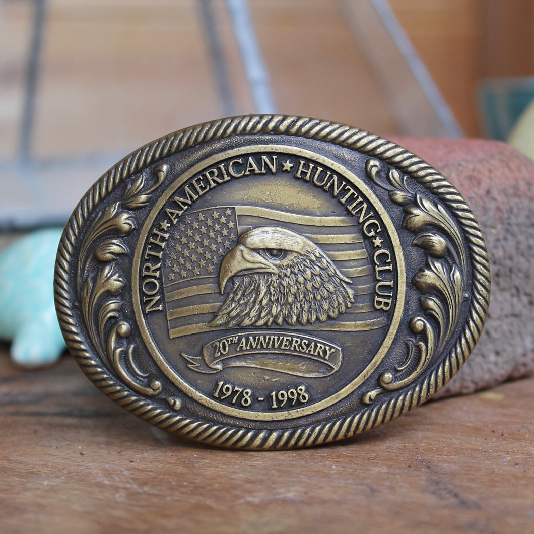 North American Hunting Club belt buckle for sale