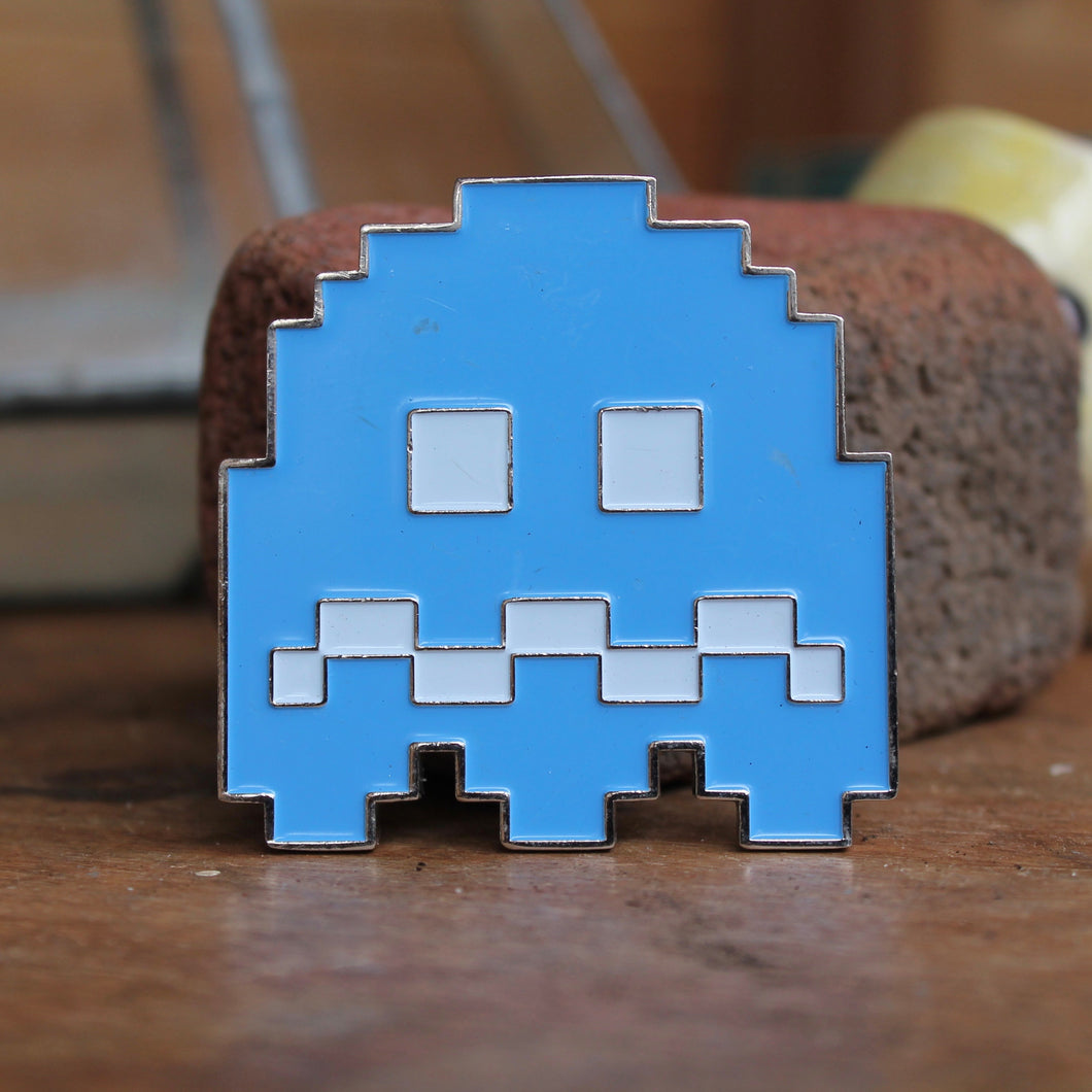 Pac-Man Inky Ghost belt buckle