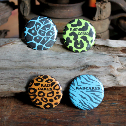 1980's Retro Pattern pinback buttons neon colors by RadCakes
