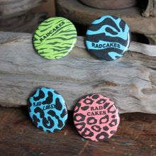 Retro 80's Pattern pinback buttons neon colors by RadCakes
