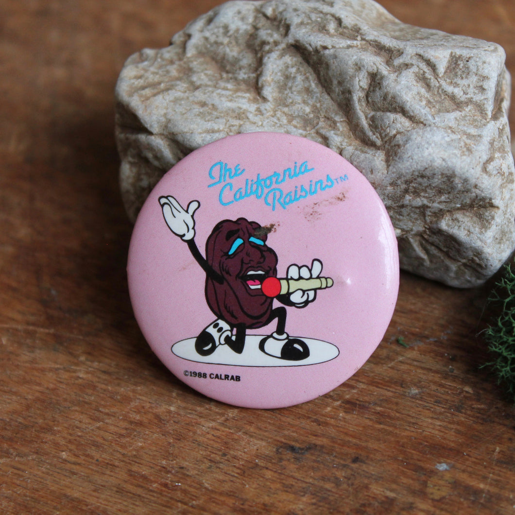 1988 California Raisins pinback button