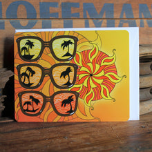 Retro sunglasses and sun design notecards by RadCakes Manasquan NJ postcard