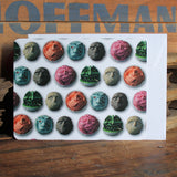 Carved Golf Balls by artist Lauren Wade unique notecards by RadCakes postcard