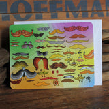 Funny hipster mustache notecards by RadCakes postcard design Sea Girt NJ