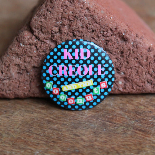 Kid Creole and the Coconuts pinback button