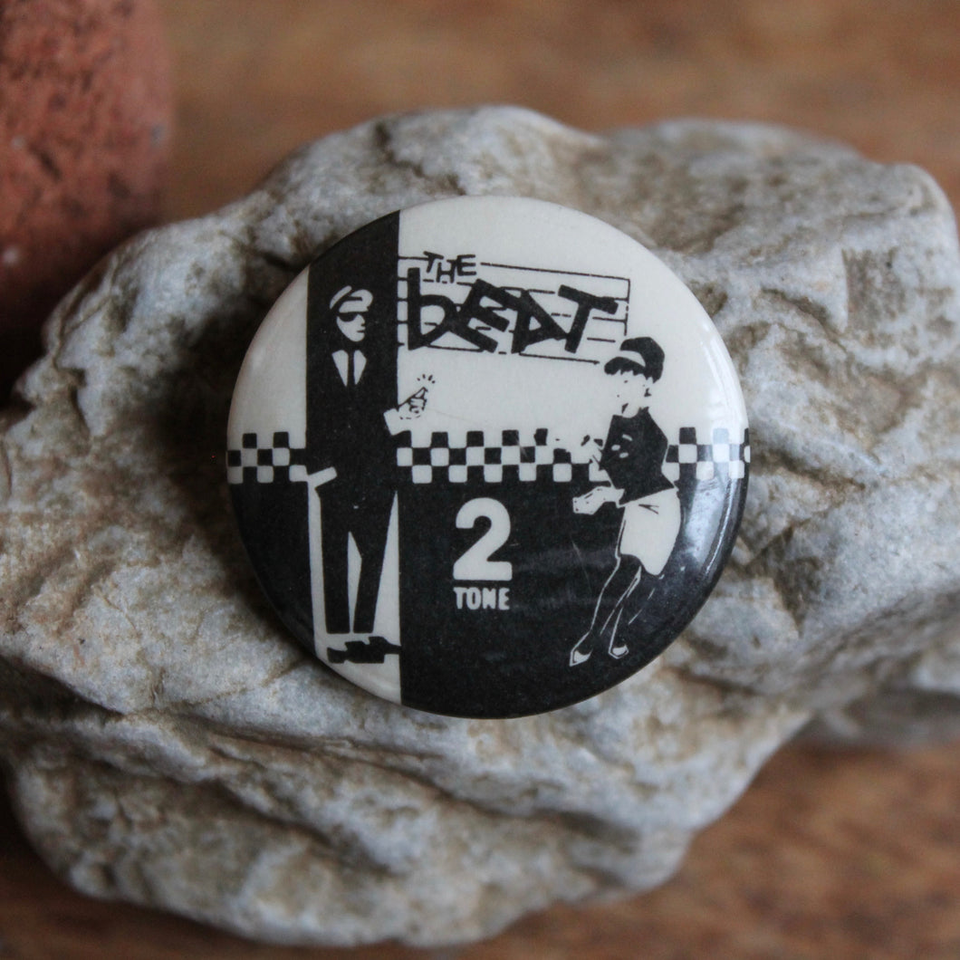 Retro The Beat 2 Tone pinback button