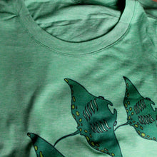 manta ray shirt by RadCakes printed on Triblend Bella Canvas tees