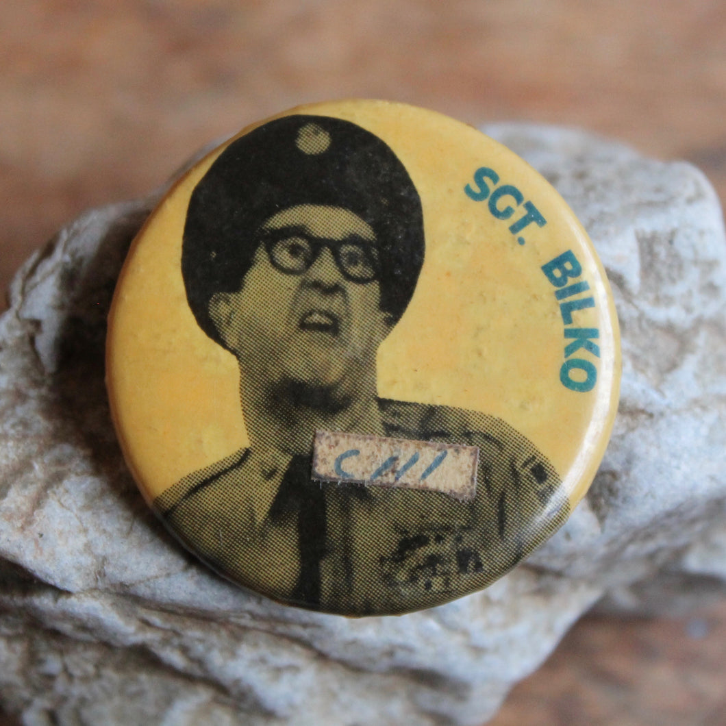 Sgt. Bilko from the Phil Silver Show pinback button