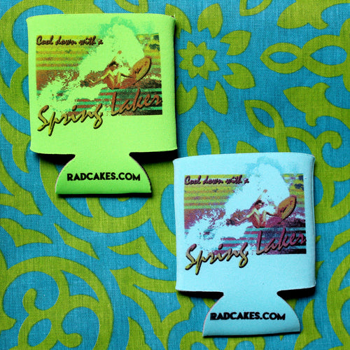 spring laker koozie by radcakes vintage surf design sea girt nj parker house gods basement