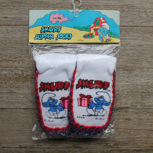 Smurf Slipper Socks for sale NEW OLD STOCK in packaging
