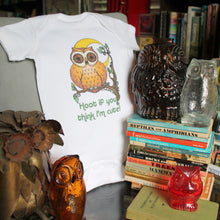 funny and cute baby owl onesie design by RadCakes printing Manasquan, NJ