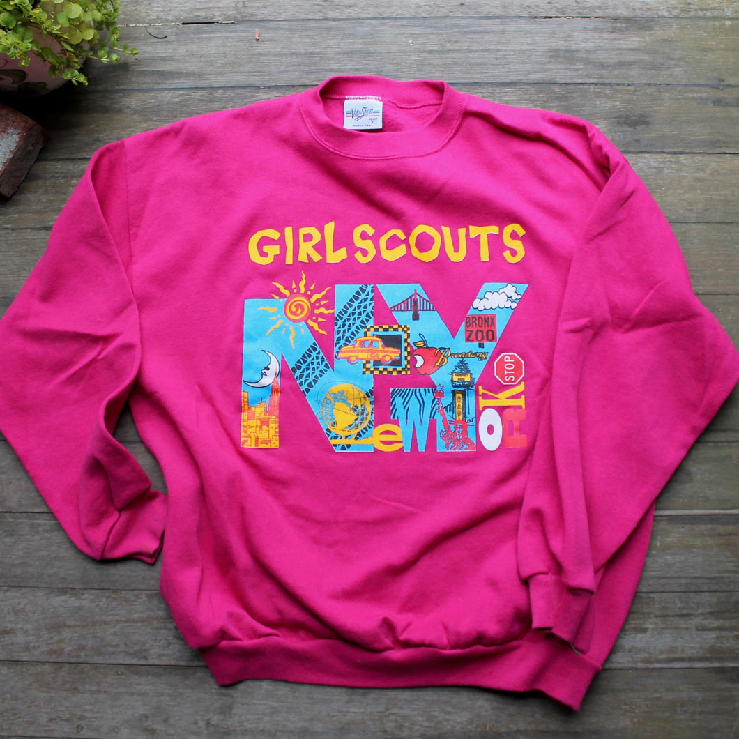 Vintage New York City Girl Scout sweatshirt for sale