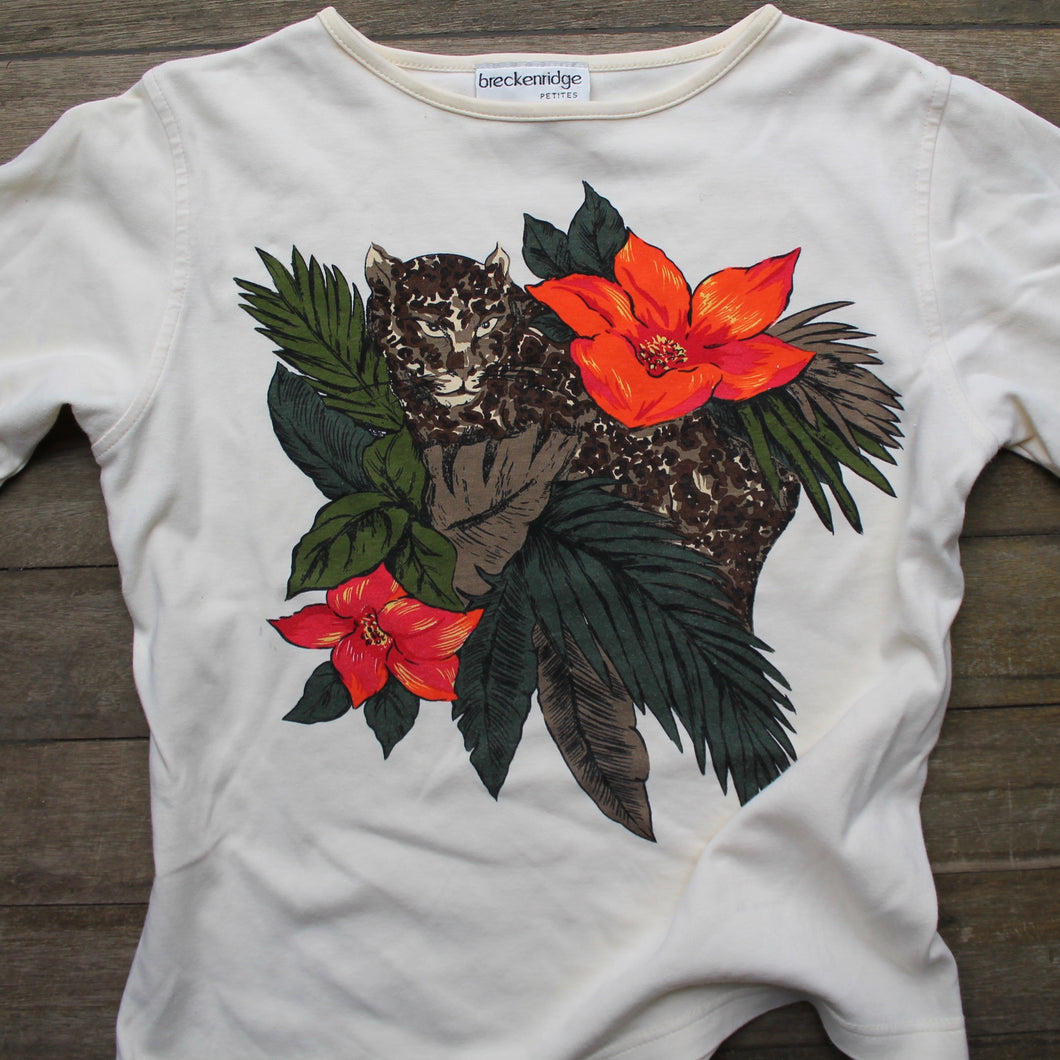 Retro Jungle Cat women's top