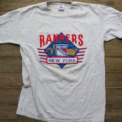 Retro New York Rangers embroidered shirt