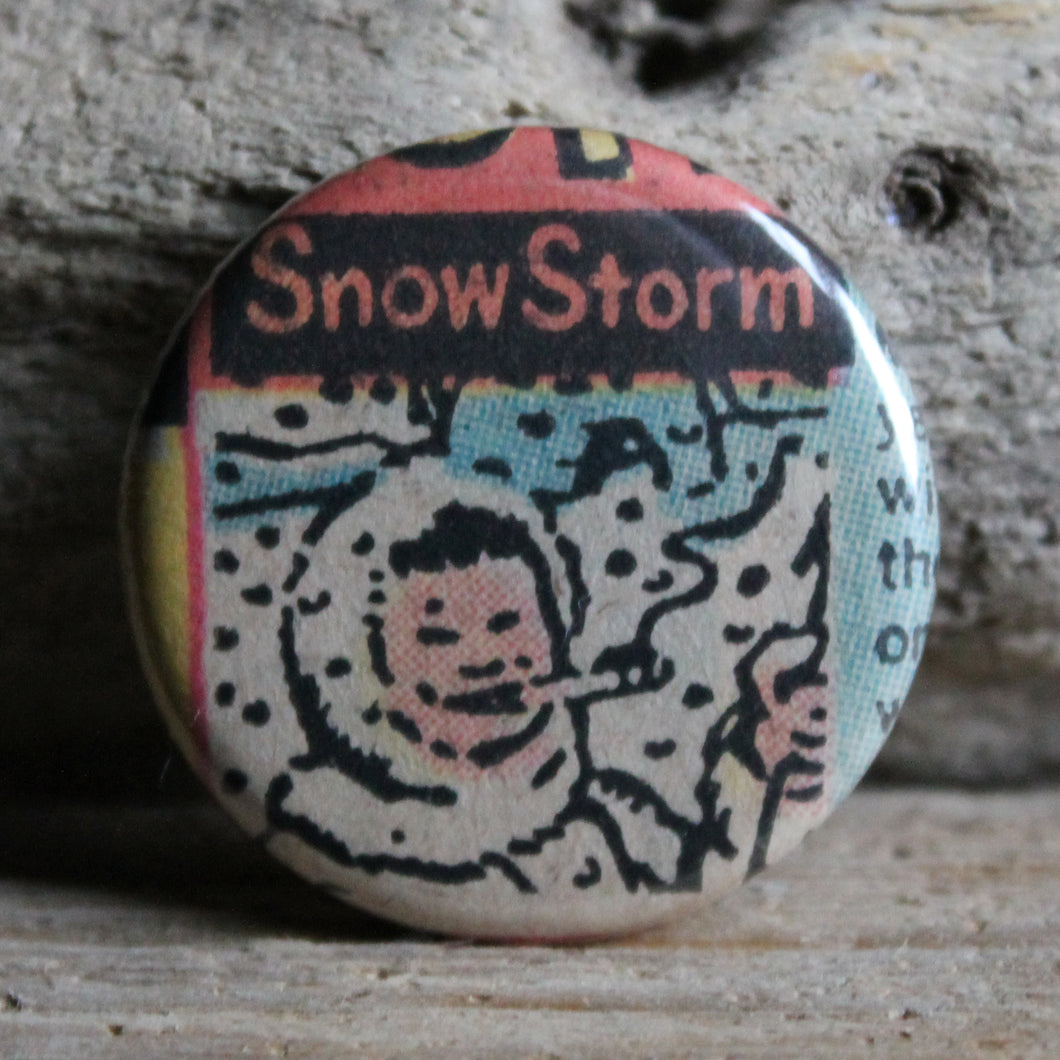 Smoking Eskimo pinback button