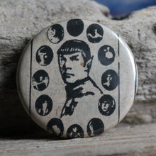 Vintage Spock print pin Star Trek button by RadCakes buttons