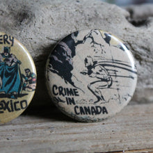 Around the World with Batman pinback button collection