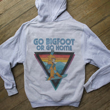 Go Bigfoot or Go Home zip up sweatshirt retro snowboarder yeti Bigfoot