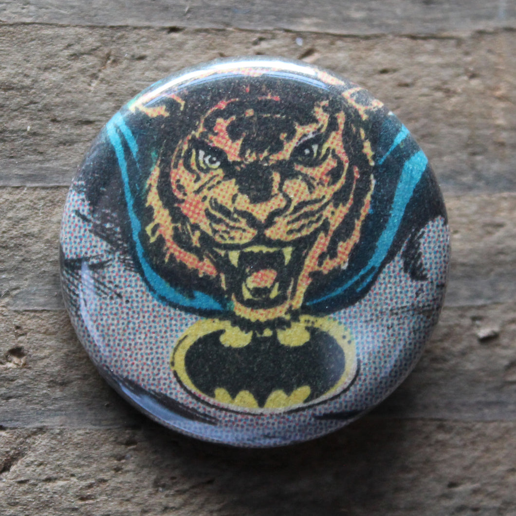 Tiger Batman pinback button