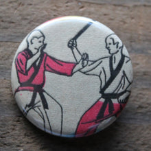Pair of Karate Diagram pinback buttons