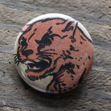 Fierce Jungle Cat pinback button - RadCakes Shirt Printing