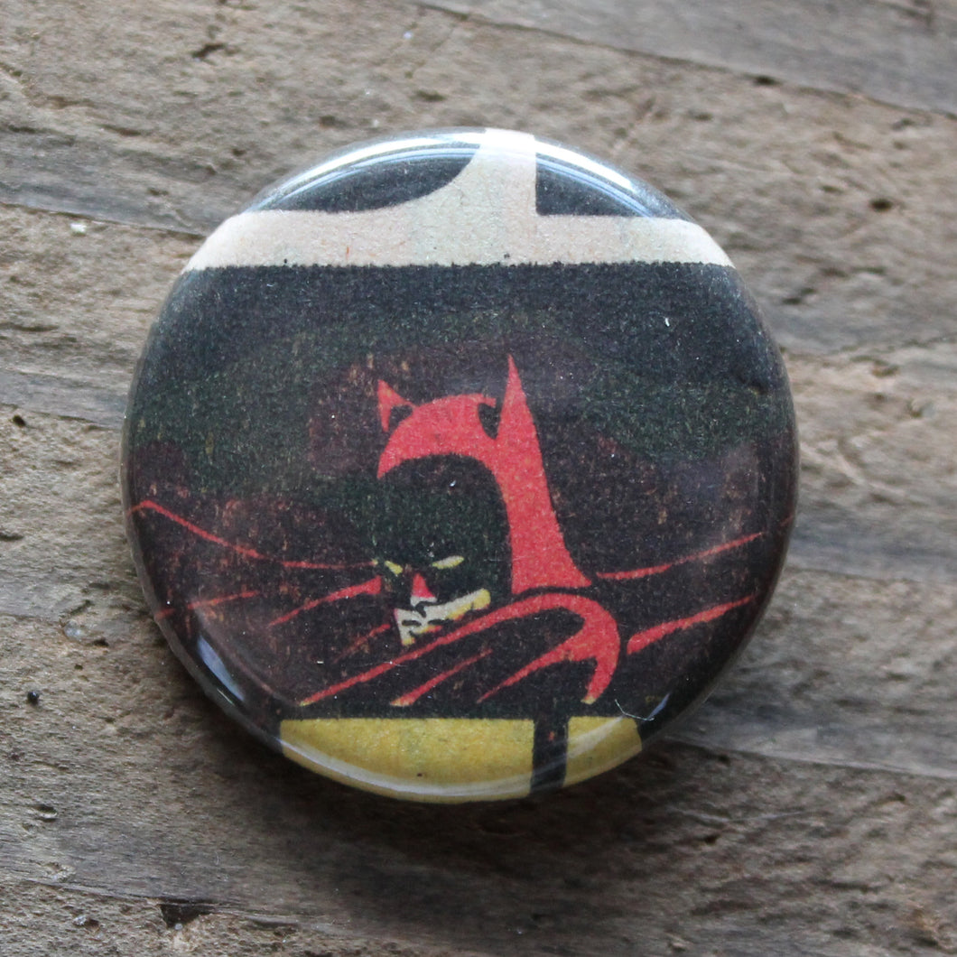 vintage batman artwork pinback button dc comic by RadCakes