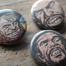 "Men with ""Crazy Eyes"" pinback button set"