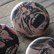 Angry Men pinback button set - RadCakes Shirt Printing