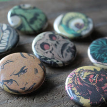 horror comic pinback button collection by RadCakes in Manasquan NJ