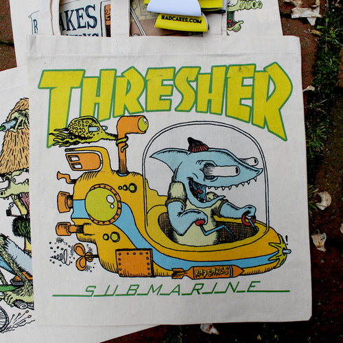 Thresher Submarine reusable canvas tote bag