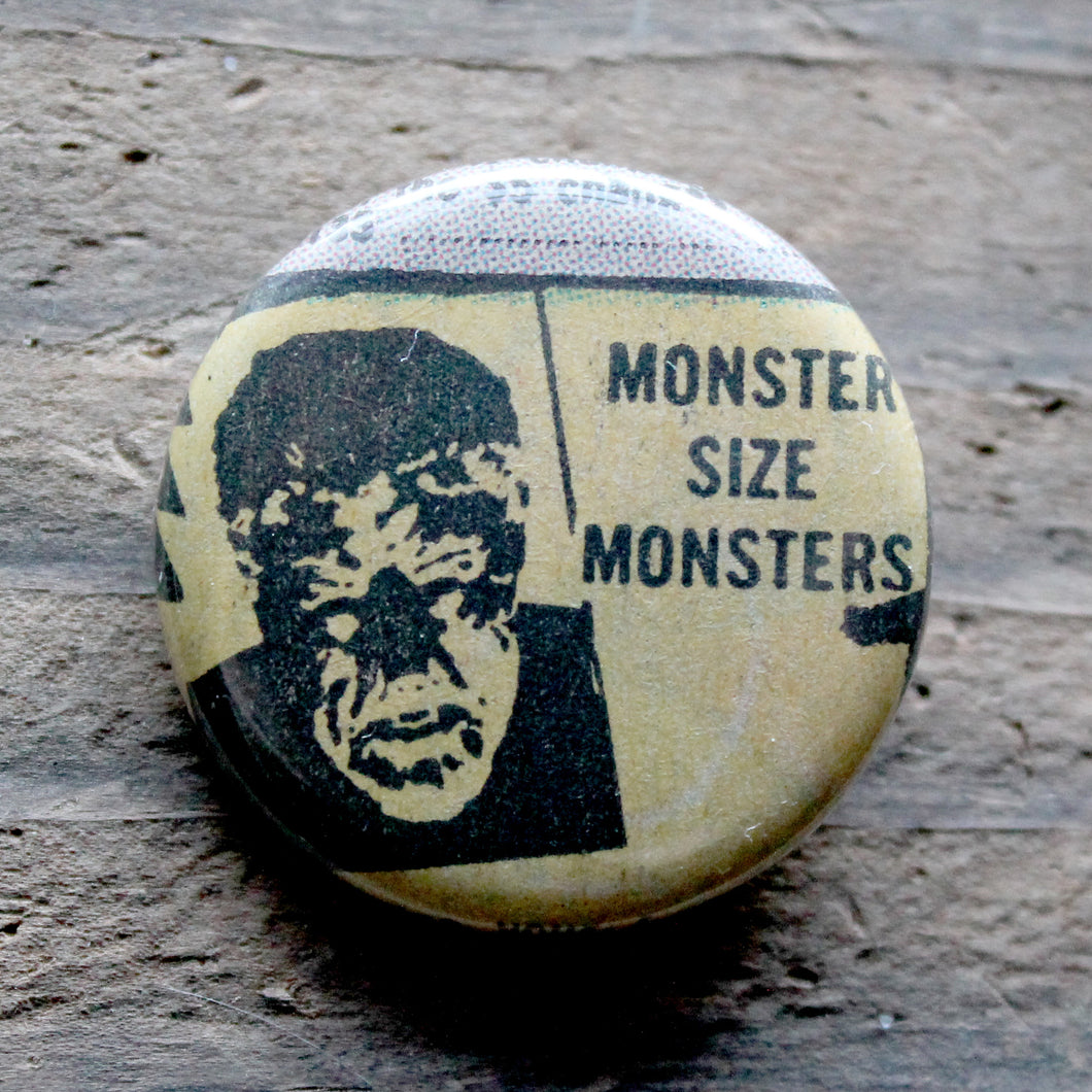 Monster Size Monsters pinback button - RadCakes Shirt Printing