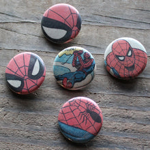 Collection of Spiderman pinback buttons - RadCakes Shirt Printing