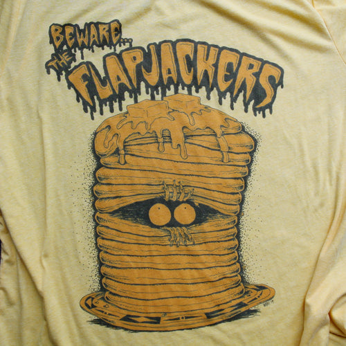 Flapjackers Pancake shirt design funny comix artwork for sale