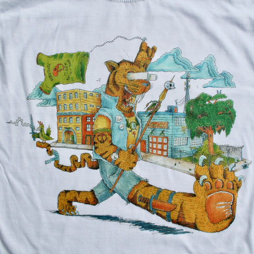 Saber Tooth Tiger shirt for sale extinct cat r crumb style keep on truckin