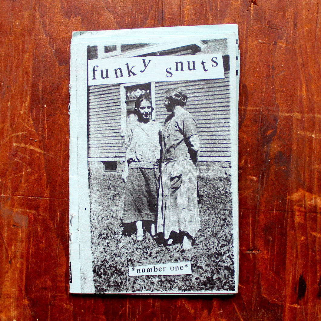 Funky Snuts zine issue number 1 punk rock album reviews by RadCakes