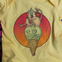 Funny baby onesies for sale ice cream cone design cartoon