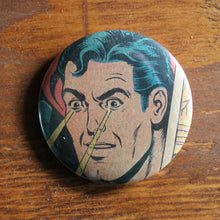 "Laser Eyes Superman 2.25"" pinback button - RadCakes Shirt Printing"