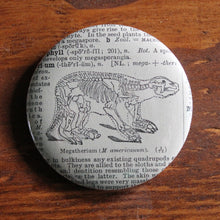 "Prehistoric Ground Sloth Skeleton 2.25"" pinback button"