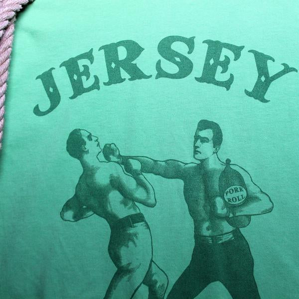 Green New Jersey Pork Roll shirt with Boxing Men - RadCakes Shirt Printing
