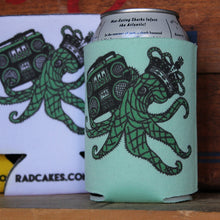 octopus beer koozie artwork design by RadCakes