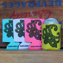 Octopus tentacle beer drinking tailgate koozies for sale by RadCakes
