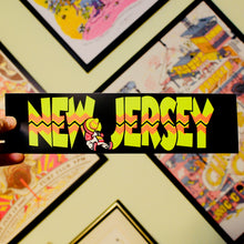 New Jersey X South of the Border bumper sticker
