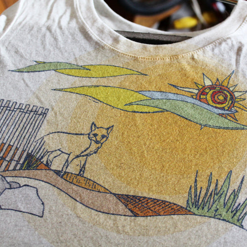 Beach Fox women's tee - RadCakes Shirt Printing