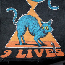 9 LIVES canvas patch