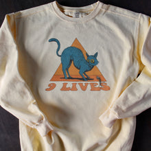 9 Lives sweatshirt cat design crewneck fleece for sale indie brand Radcakes NJ